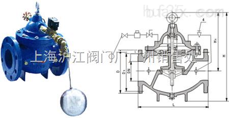 柳州沪江浮球阀_106x_电磁遥控浮球阀图片